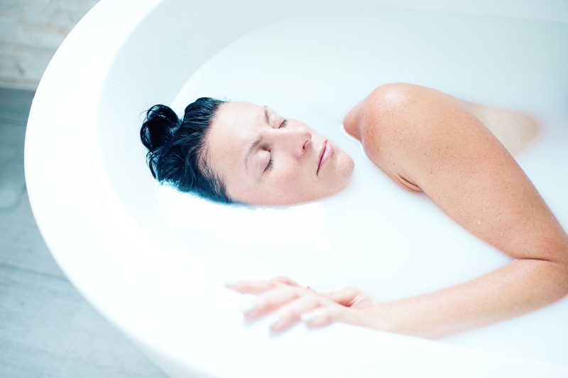 milk bath contemporary photography
